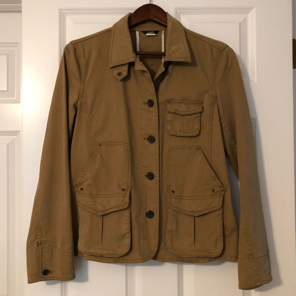 J. Crew Jackets & Blazers - JCrew Khaki Utility Jacket - M